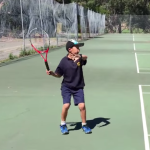 Tennis Forehand Competition for our Friday Night Comp Players