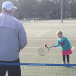 Tennis drills for beginners aged between 3 and 4 years